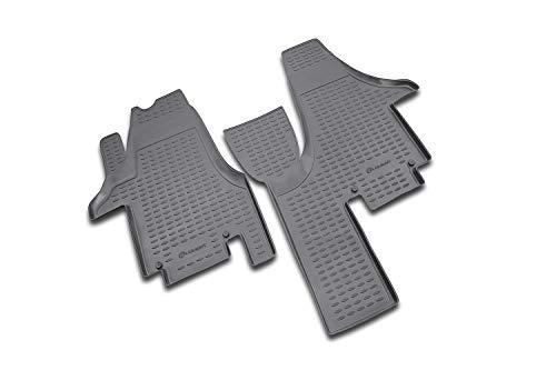Element EXP.NLC.51.17.210 Alfombrillas de Goma Antideslizantes de Ajuste VW Multivan – año: 04 – 20, Negro, Passform