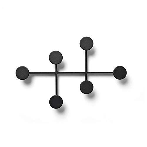 decorativo Perchero Pared metal 6 ganchos Perchero nórdico de pared Stick Creativo Perchero de Montaje