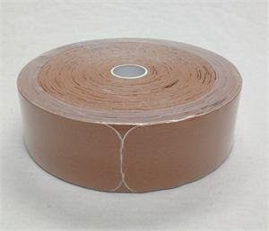"Therapist's Choice® Kinesiology Tape, 2""x105' PRE-Cut Bulk Roll (Beige), PRE-Cut into Easy-to-Apply 10 inch Strips."