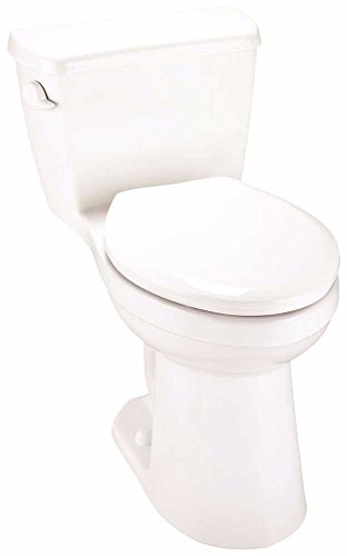 """postalproducts 21-014 Gerber Avalanche 1.28 1-PC Ada Elongated Compact Siphon Jet Toilet, White, 28.5"""" Height, 16.25"""" Width, 26.75"""" Length"""