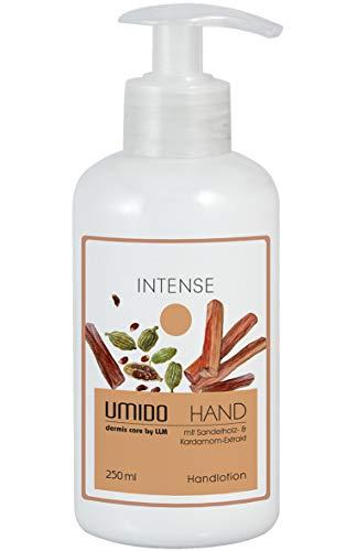 UMIDO Hand-Lotion Spender 250 ml Kardamom-Extrakt & Sandelholz-Extrakt | ohne Parabene | Handcreme | Creme | Pflegecreme | Lotion | Hautpflege | Hand-Pflege