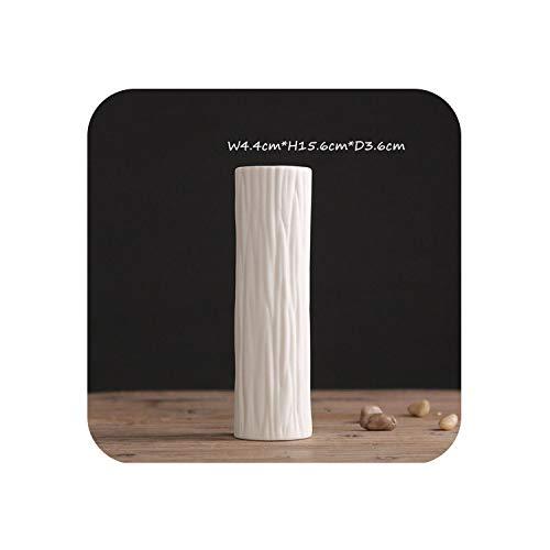 Little-Goldfish vases Classic White Ceramic Vase Chinese Arts Crafts Wedding Party Decor Porcelain Flower Vase Creative Gifts,02