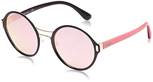 Prada 0PR57TS AAV5L2 54 Gafas de sol, Negro (Black/Pale Gold/Grey Rose Gold), Unisex-Adulto