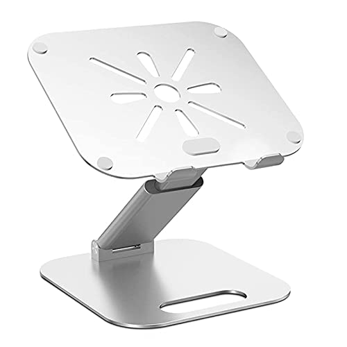 conpoir Soporte de Aluminio para teléfono de Escritorio Soporte de Soporte Fijo Plegable retráctil Soporte Universal para computadora portátil