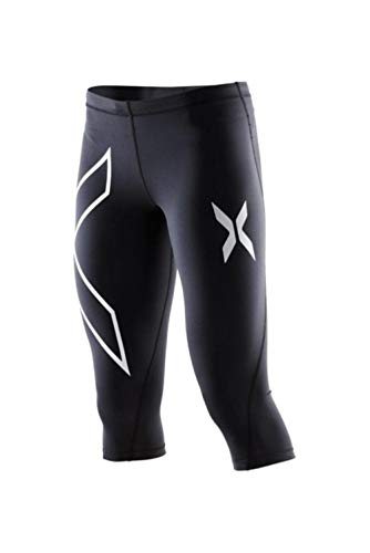 HPPLYoga-broek Dames Sportkleding Gedrukt Yoga-legging Fitness Hardlooptights Sportbroek Compressietights, zilveren capri's, S