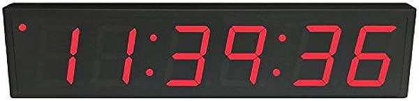 Time Machines Precision Digital POE Clock 4 X 6 Red Digits Black Case