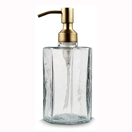 Dispensadores de loción Loción botella dispensador de jabón Hecho en casa de cristal claro de lociones dispensador dispensación dispensador de jabón for Aceites Esenciales Dosificador de jabón