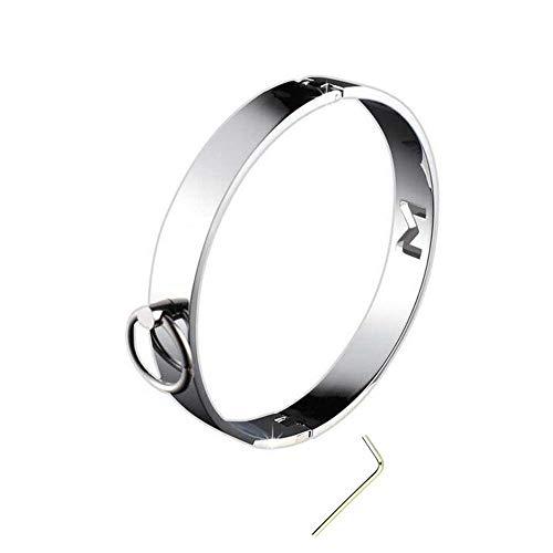 Hip Hop Rock Punk unisexe en métal joint torique bijoux collier cadeau pour Couple partie intérieure