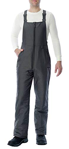 Arctix Men's Essential Insulated Bib Overalls, Charcoal, 3X-Large (48-50W 32L)