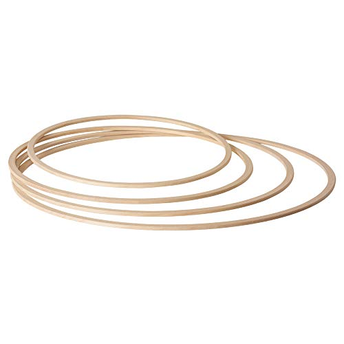 Grevinga® Gymnastikreifen/Hula Hoop aus Holz Ø 80 cm
