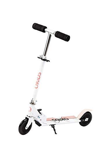 QKids Zweirad-Tretroller, für Jungen, Mädchen, zusammenklappbar, Schwarz, bis 50 kg, Alter: 3+, Scooter