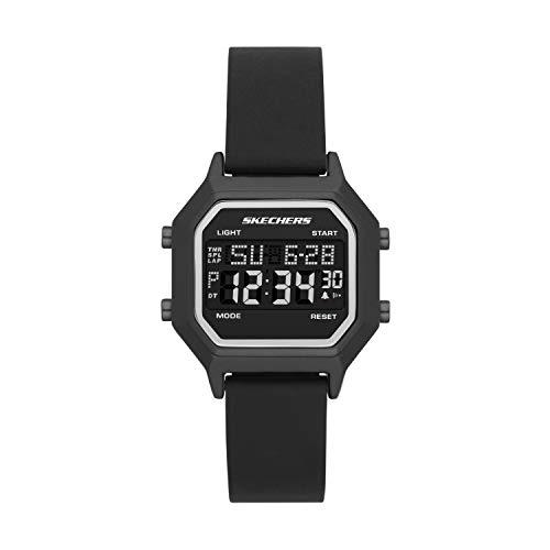 Skechers - Reloj digital deportivo de cuarzo para mujer
