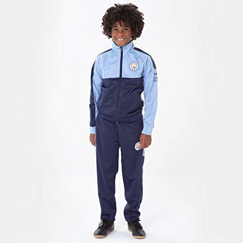 Morefootballs - Offizieller Manchester City Trainingsanzug für Kinder - 2020/2021-140 - Langarm Man City Trainingsjacke und Jogginghose - Jacke und Hose für Fussball Training