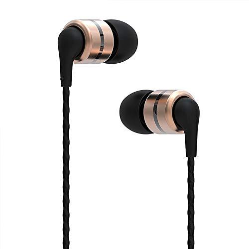 SoundMAGIC E80 Auriculares In Ear, Auriculares para teléfonos Inteligentes con Cable,Auriculares Estéreo con Aislamiento de Ruido para, Todos los Dispositivo de Interfaz de 3,5mm,Dorado