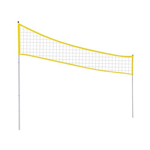 Ganmek Red de Voleibol con Poste de pie Plegable Altura Ajustable Voleibol Red de Tenis de bádminton PE Cruz Duradera Red de Entrenamiento de Voleibol Red de Juego de bádminton Deportivo 238 Top Sale