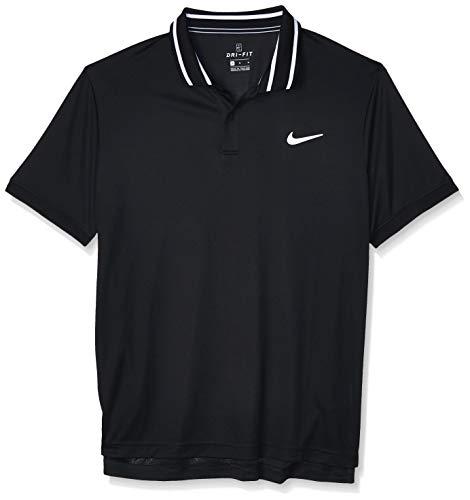 Nike M Nkct Dry Polo Pique Uomo, Black White, M