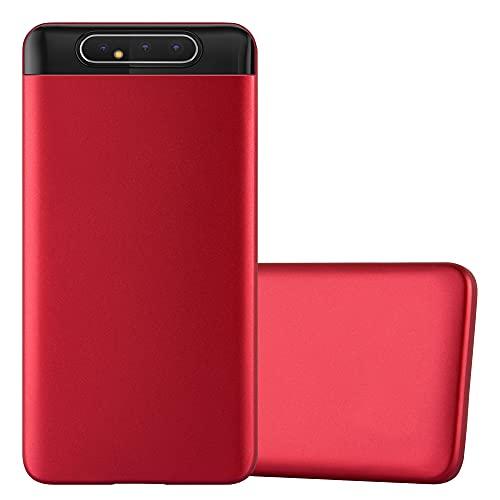 Cadorabo Custodia compatibile con Samsung Galaxy A80 / A90 4G in ROSSO METALLICO - Morbida Cover Protettiva Sottile di Silicone TPU con Bordo Protezione - Ultra Slim Case Antiurto Gel Back Guscio