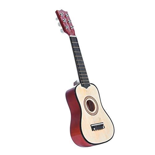 21 Zoll 6 String Anfänger Praxis Akustikgitarre mit Pickel für Kinder Kinder Saitenmusikinstrumente Geschenk (Color : 21inch White)
