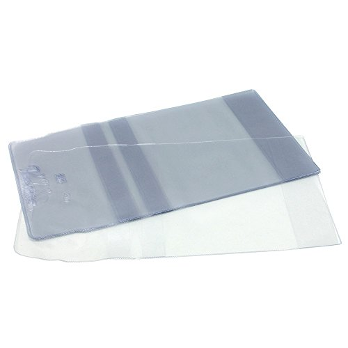 Vista-Gloves Slip-On Book Covers - Fits Up To 8 Inch H Book - 10 Pack