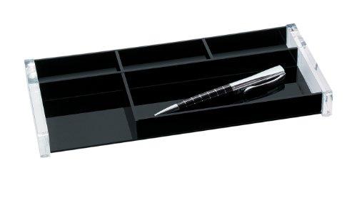 Wedo 601601 Stifteschale (Acryl Exclusiv) glasklar/schwarz