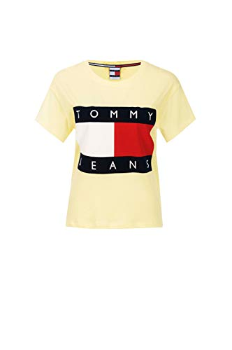 Tommy Jeans Hilfiger Denim 90s - Camiseta Print - Light Yellow