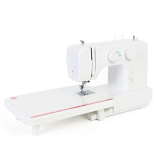 SEGIBUY Mini-naaimachine, draagbaar, elektrische naaimachine, verstelbaar, 2 versnellingen, met voetpedaal voor beginners en huishoudreizen, met uittrektafel