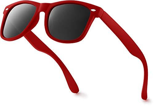 Retro Rewind Classic Polarized Sunglasses,Red | Smoke Polarized