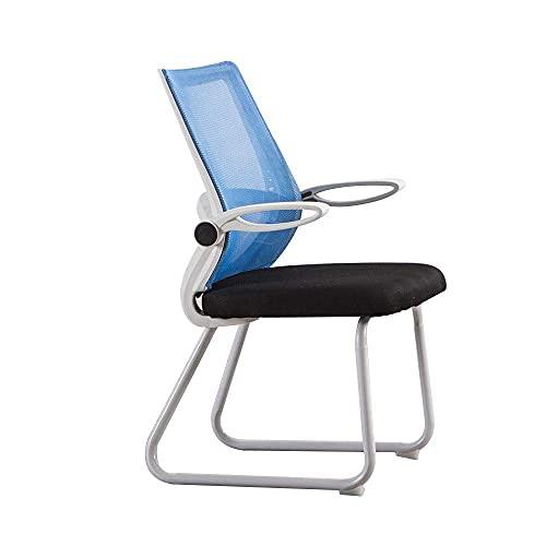 n.g. Wohnzimmerzubehör Stuhl Drehstuhl Bürostuhl Ergonomie Einteilige Rückenlehne Chefsessel Haushaltsverstellbare Armlehne Computerstuhl Einfacher Bürostuhl Belastbares Gewicht: 440 lbs Blau