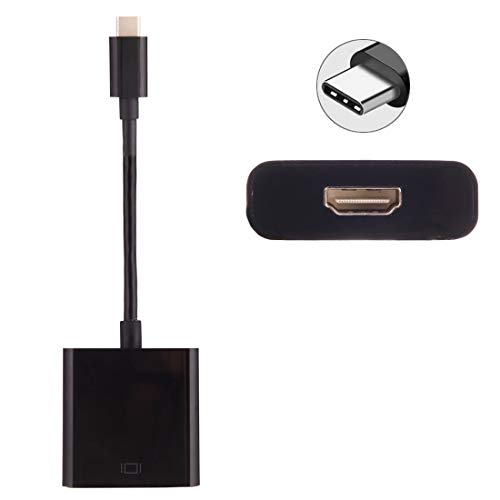 USB-C/Type-C 3.1 Male to HDMI Female Adapter Cable, Length: About 10cm, Compatible Galaxy S9 Note 8 HTC 10 Mate 10 & Mate 10 Pro & P20 & P20 Pro/MacBook 12 inch/MacBook Pro