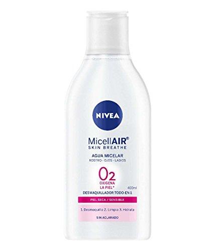 NIVEA MicellAIR Skin Breathe Agua Micelar Piel Seca/Sensible (1 x 400 ml),...