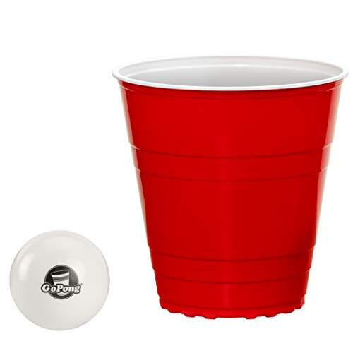 GoPong GoBig 110 Oz Giant Red Party Cups 24 PACK with 4 XL 3' Pong Balls | Giant Cups for Beer Pong, Flip Cup or Novelty Use, Model: