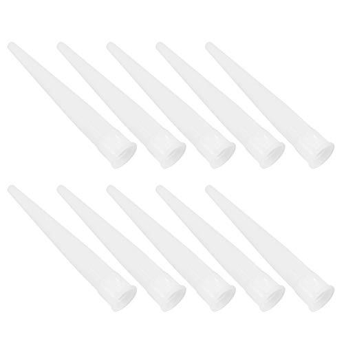 Yardwe 30 Piezas de Plástico para Boquilla de Calafateo de Reemplazo de Punta Herramienta de Extensión Suministros (Blanco)