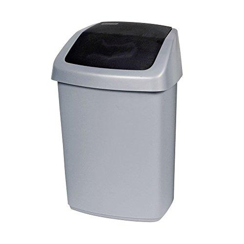 CURVER Abfallbehälter, Silber/Anthrazit