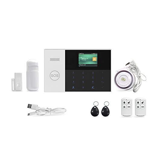 ZJH 2,4-Zoll-TFT-Bildschirm WiFi SIM SMS RFID-Karte APP Fernbedienung Wireless Home Security Alarmanlage Mit Feuer Rauchmelder