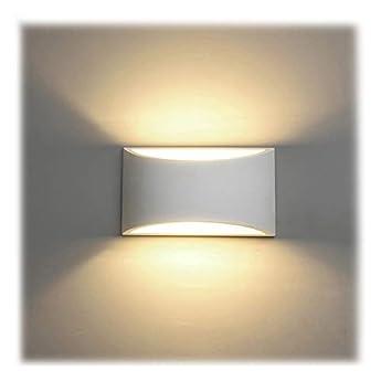Foto di Applique da Parete Interno, 7W Intonaco LED Lampade da Parete Moderne Bianco Caldo 2700K Applique Interni Decorativa per Soggiorno, Camera da letto, Corridoio, Scale, Percorso