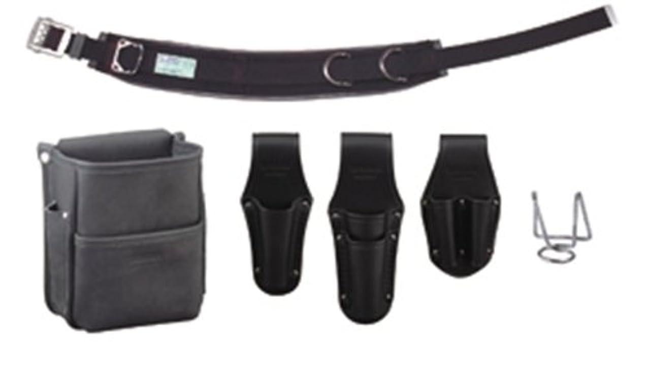 収益バングラデシュ本気デンサン 電工プロ腰道具セット JNDS-R96BK-SET