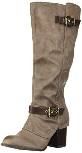 Fergalicious Women's Connor Knee High Boot, Doe/Grey, 9