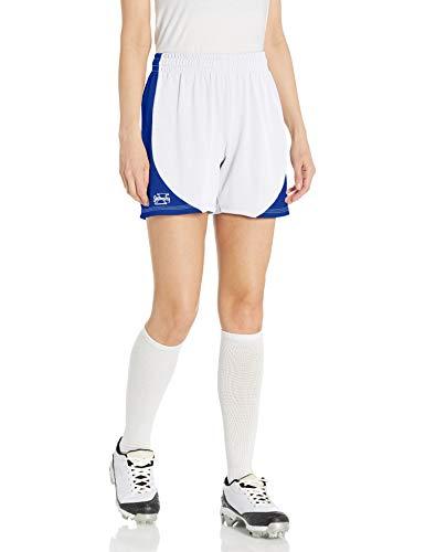 Intensity Damen Kurze Mesh-Shorts mit Seiteneinsätzen, Damen, Weiß/Königsblau, Large