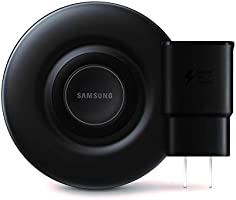 Samsung Qi Certified Fast Charge Wireless Charger Pad (2019 Edition) with Cooling Fan for Galaxy Phones, Watches and...