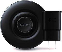 Samsung Qi Certified Fast Charge Wireless Charger Pad (2019 Edition) with Cooling Fan for Galaxy Phones, Watches and Apple Iphone Devices - US Version