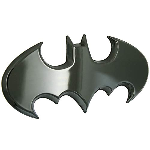 Fan Emblems Batman 3D Car Badge - 1989 Batwing Logo (Black Chrome)