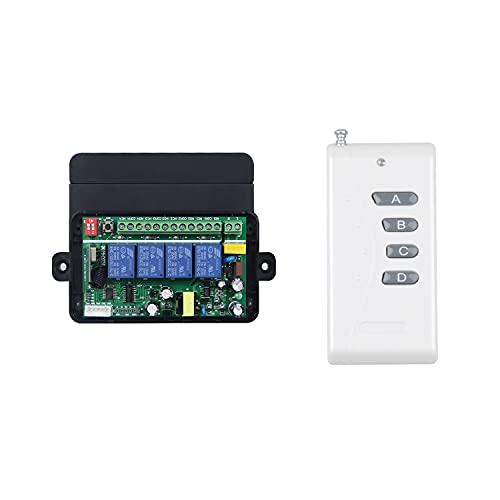 220 V 230 V 240 V 4 canales, mando a distancia inalámbrico RF, interruptor...