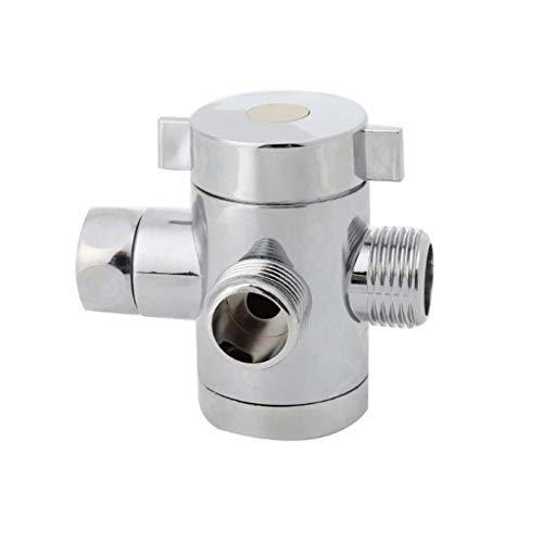 JYDQM Válvula de Control del Adaptador del Interruptor de la función de Tres Cabezales de G1 / 2'Válvula de desviador del Conector de la Camiseta de 3 vías