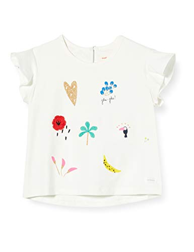 Catimini Cq10123 tee Shirt Camiseta, Blanco (Craie 13), 6-9 Meses (Talla del...