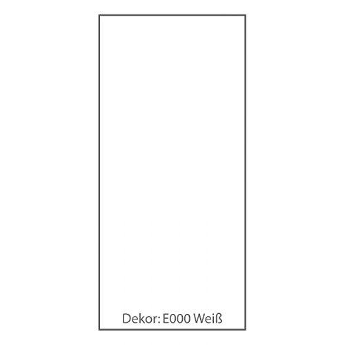Duschrückwand ALU-Verbundplatte Dekor: E0000 Weiß Größe 125 cm (B) / 250 cm (H)