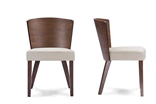 Baxton Studio Sparrow Modern Dining Chair, Brown/Light Brown (Set of 2)