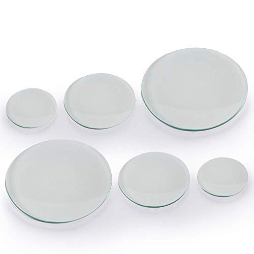 Yizerel - Juego de 6 vasos de cristal para reloj de laboratorio en 150 mm, 100 mm, 70 mm para laboratorio, ciencia y experimentos químicos (150 mm x 2, 100 mm x 2, 70 mm x 2)