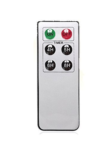Aignis Remote Control 6-Key with 24-Hour Timer Function Suit for All Non Outdoor/Indoor Waterproof Flickering Flameless Candles