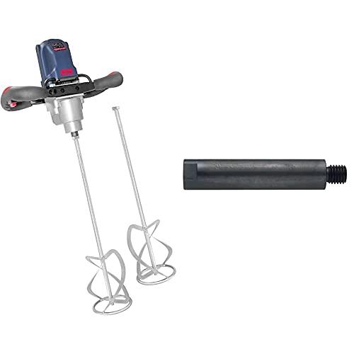 Güde 58048 Rührwerk GRW 1800 (Aufsatz 140 mm, 1800W, 2-Gang-Getriebe, Soft-Start-Funktion, Arretierbarer Schalter) & HIKOKI 754745 M14-Gewinde-180 mm Verlängerung