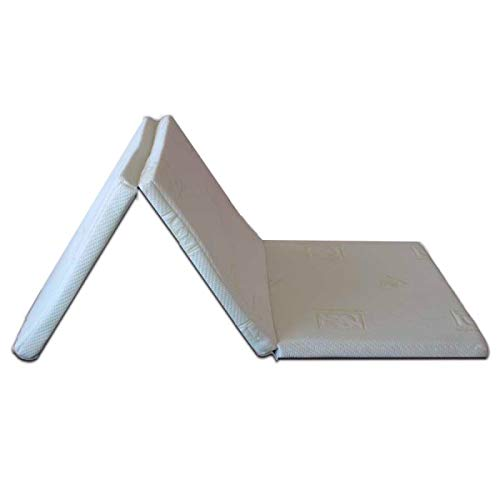 ventadecolchones.com Topper Viscoelástico Plegable Desenfundable (120 x 190 cm - 3 cm de Visco)